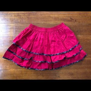 Lands End girls ruffle skirt Christmas🎄red 6 NWT
